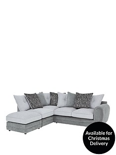 mosaic-fabric-left-hand-single-arm-chaise-sofa-with-matching-footstool