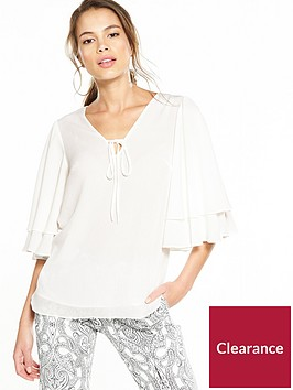 river-island-dobby-tiered-sleeve-top