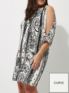 river-island-ri-plus-split-sleeve-printed-dress