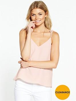 river-island-ri-petite-pink-tie-strap-cami