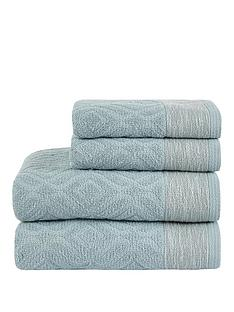 ideal-home-diamond-sculptured-550gsm-4-piece-towel-bale