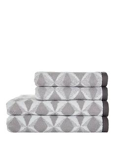 ideal-home-grey-geo-print-4-piece-towel-bale-550gms