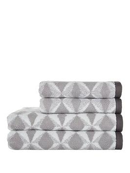 ideal-home-grey-geo-print-550gsm-4-piece-towel-bale