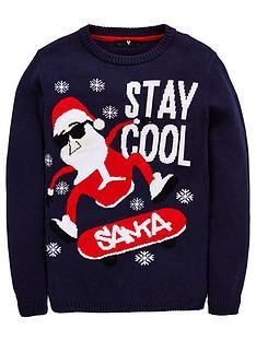 v-by-very-boys-skateboard-santa-christmas-jumper