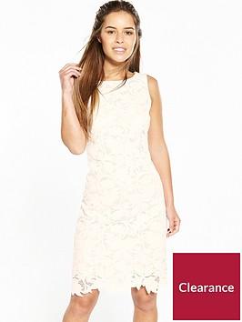 wallis-petite-leaf-lace-shift-dress