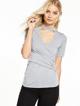 v-by-very-choker-wrap-jersey-top-grey-marl