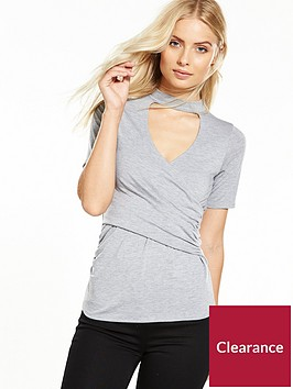 v-by-very-choker-wrap-jersey-top-grey-marl