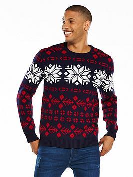 v-by-very-contrast-panel-fairisle-christmas-jumper