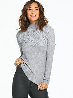 myleene-klass-lace-yoke-high-neck-jumper