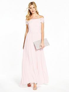 v-by-very-bridesmaid-pleated-bardot-maxi-dress-blush