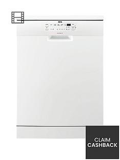 AEG FFB53600ZW Fullsize 13-Place Dishwasher - White