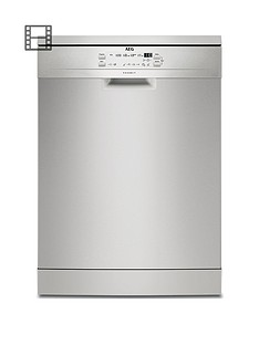 AEG FFB53600ZM Fullsize 13-Place Dishwasher - Stainless Steel Best Price, Cheapest Prices