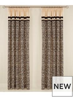 myleene-klass-animal-print-hidden-tab-lined-curtains