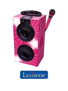 portable-bluetooth-karaoke-machine-with-microphone-pink