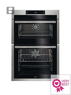 aeg-dce731110m-60cm-electric-built-in-double-oven-stainless-steel