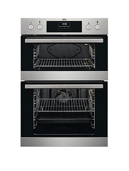 aeg-deb331010m-60cm-electric-built-in-double-oven-stainless-steel