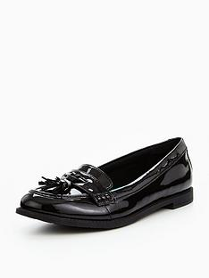 cb58bb648 Clarks Preppy Edge Junior Shoes - Black Patent