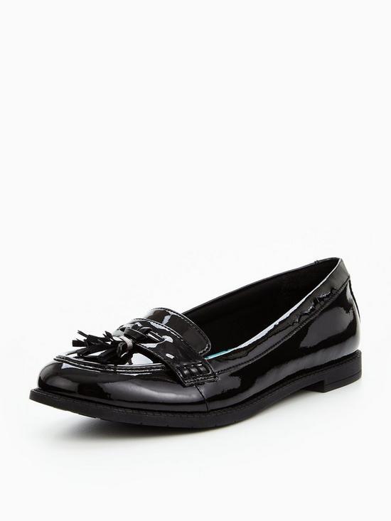 d4ef6935101 Clarks Preppy Edge Junior Shoes - Black Patent