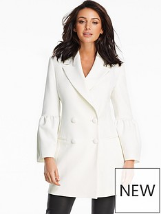 michelle-keegan-fluted-sleeve-double-breasted-blazer-ivory