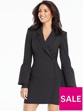 michelle-keegan-button-side-tux-dress