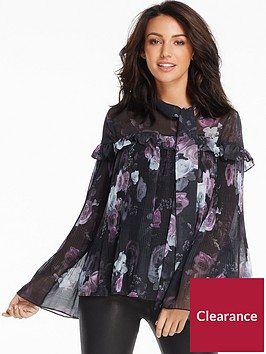 michelle-keegan-micro-pleat-peasant-blouse