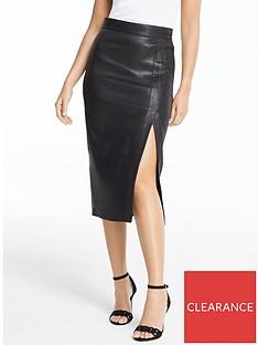 michelle-keegan-premium-stretch-leather-midi-skirt