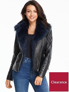 michelle-keegan-faux-fur-collar-premium-leather-jacket