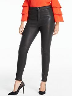 michelle-keegan-premium-stretch-leather-ankle-grazer-trouser