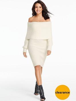 michelle-keegan-bardot-knitted-long-sleeve-dress