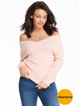 michelle-keegan-fluffy-bardot-jumper