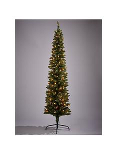 pre lit pencil christmas tree 6ft