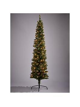 Pre Lit Pencil Christmas Tree 6ft Very Co Uk - Pre Lit Pencil Christmas Tree