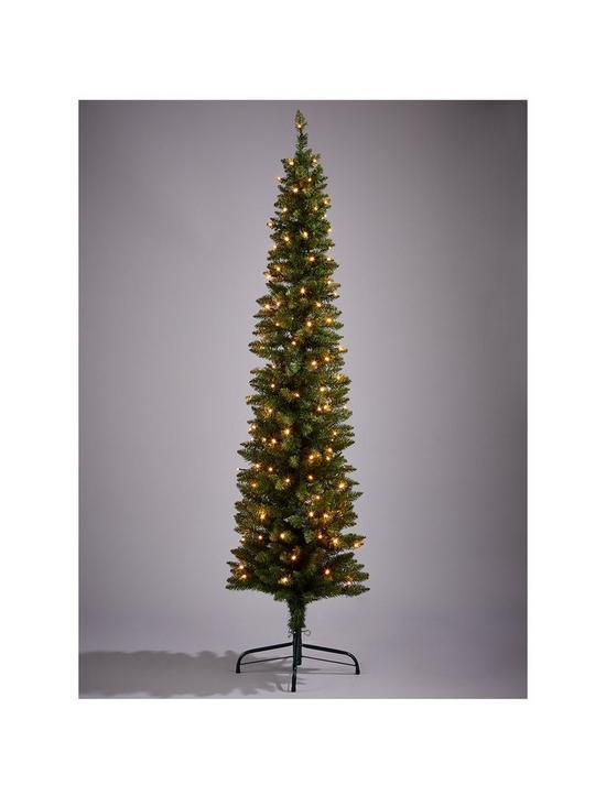 pre lit pencil christmas tree 6ft verycouk