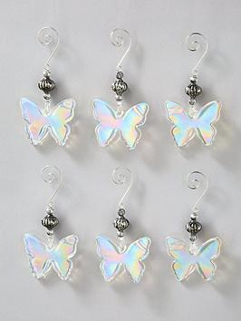 frosted-glass-butterfly-hanging-christmas-tree-decorations-6-pack