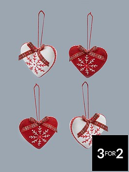 fabric-hearts-hanging-christmas-tree-decorations-4-pack