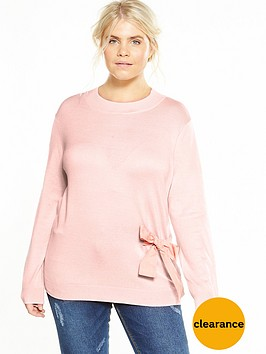 lost-ink-curve-tie-front-jumper-nude