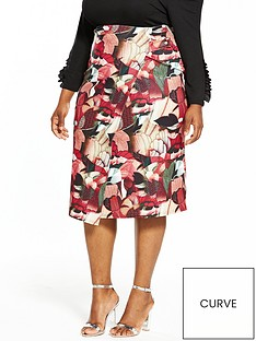 lost-ink-curve-collage-floral-pencil-skirt