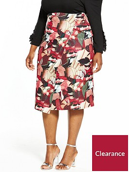 lost-ink-plus-collage-floral-pencil-skirt