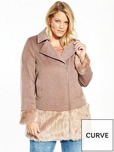 lost-ink-curve-faux-fur-hem-coat