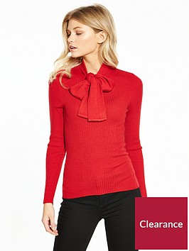 lost-ink-petite-jumper-with-bow-neck-tie-red