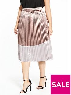 lost-ink-curve-metallic-pleated-skirt