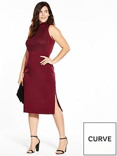 lost-ink-curve-lost-ink-curve-cornelli-high-neck-pencil-dress