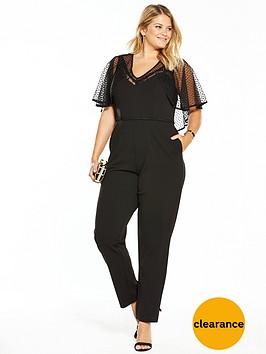 lost-ink-curve-mesh-sleeve-jumpsuit