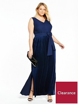 lost-ink-plus-velvet-pleat-maxi-dress