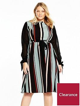 lost-ink-plus-striped-skater-dress