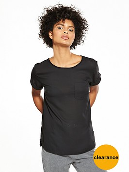v-by-very-woven-front-t-shirt-black