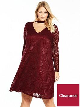 lost-ink-curve-lace-choker-swing-dress