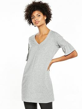 v-by-very-bell-sleeve-tunic-grey-marl