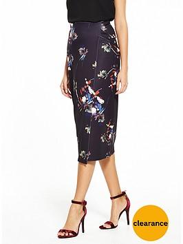 lost-ink-floral-print-wrap-pencil-skirt