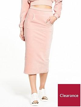 lost-ink-bib-pocket-jumbo-rib-pencil-skirt-pink